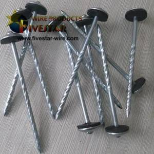 Umbrella Head Screws roofing nails with washer